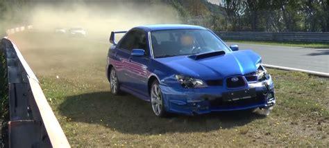Unaware Subaru Wrx Sti Driver Crashes His Impreza Quot