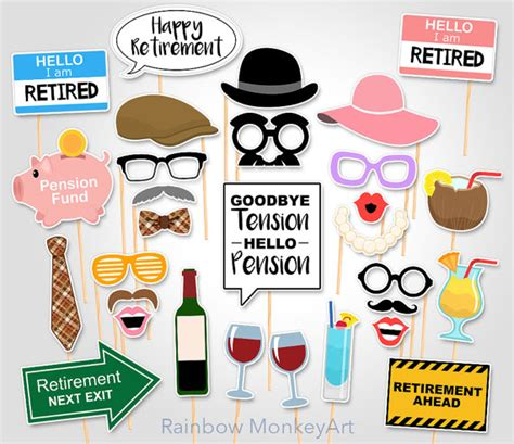 printable retirement photo booth props printable retirement party photo booth props retirement