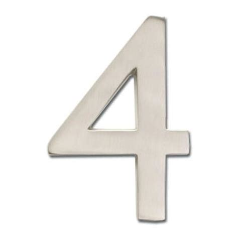 architectural mailboxes 5 in floating house number satin