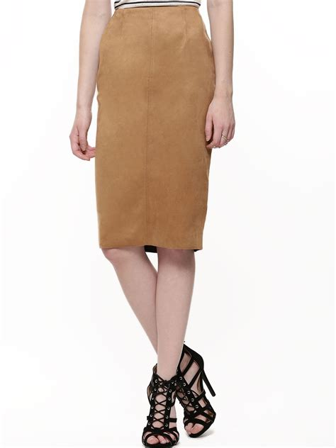 buy new look suedette pencil skirt for s