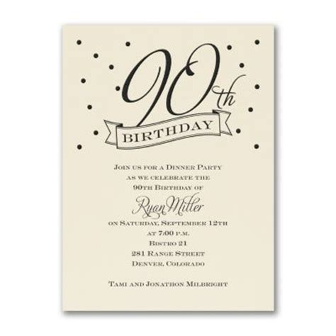 17 best ideas about 90th birthday invitations on pinterest