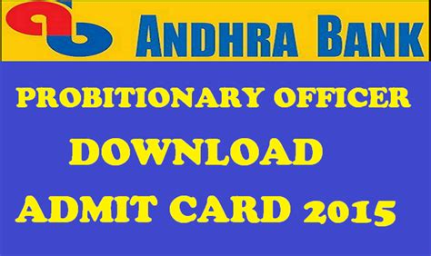Andhra Bank Gift Card - andhra bank po admit card 2015 released download probationary officers hall tickets