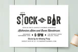 quot bar cart quot customizable engagement invitations in