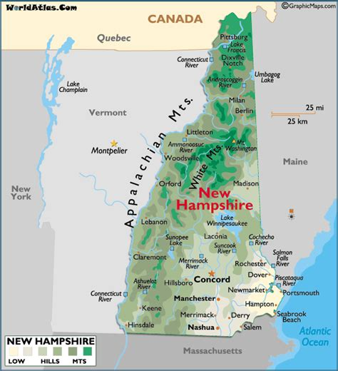 29 amazing maine new hshire map afputra new hshire on map of usa afputra