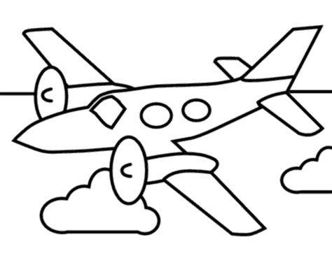coloring page airplane outline airplane outline cliparts co