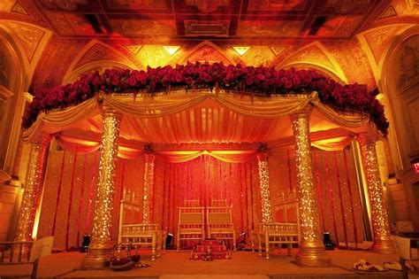 indian wedding chair rental ny ceremony d 233 cor photos and gold mandap inside weddings