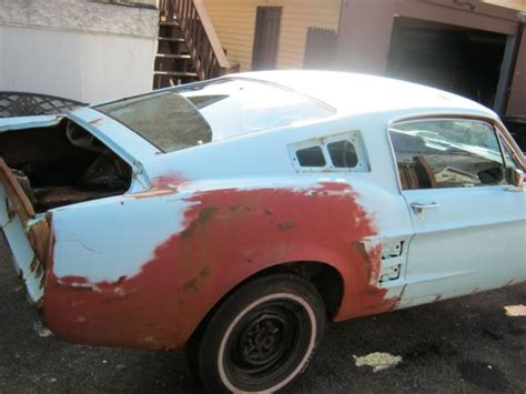 Parts 1967 Ford Mustang Fastback 2 Door Project For Sale 1967 Ford Mustang Fastback Project Was V8 4 Speed Car Robin Egg Blue
