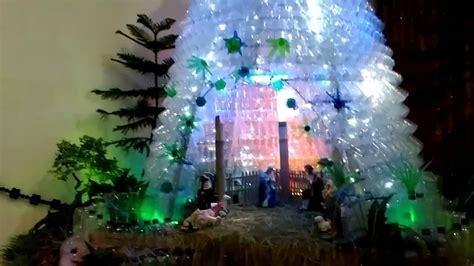 cara membuat pohon natal dari aqua botol gua natal dari botol bekas 2015 paroki sukoharjo youtube