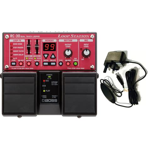 Rc30 Loop Station Pedal Effect rc 30 loop station effects pedal rc30 inc psa 230es2 power supply on onbuy