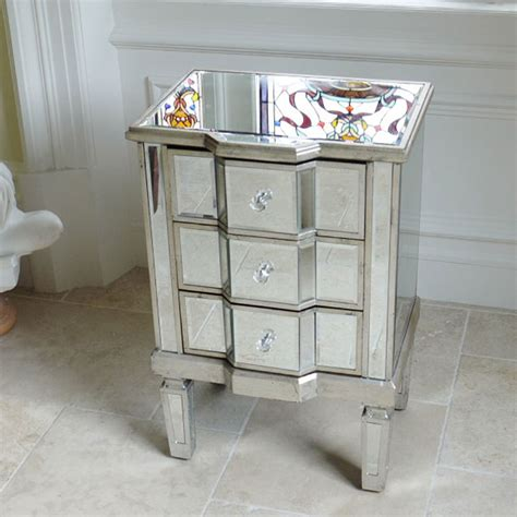 mirrored bedside table beautiful mirrored bedside tables