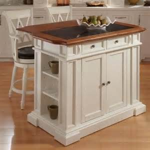 Kitchen island set with 2 stools white amp oak modern kitchen islands