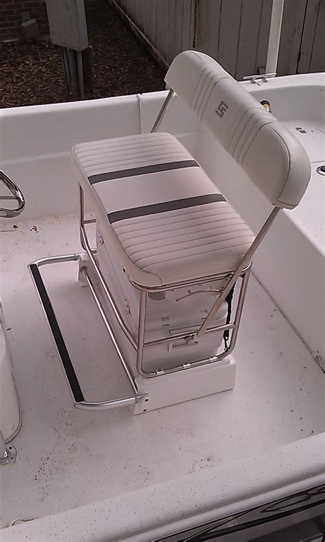 swing back boat seats carolina skiff cooler seat kit for stainless swingback seat