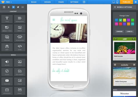 site android weebly launches its android app mobile and html5 site creator