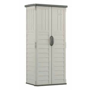 Vertical Outdoor Storage Cabinet Suncast Vertical Shed Lowe S Canada