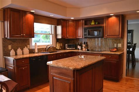 Kitchen Cabinets And Countertops Designs Staining Kitchen Cabinets Darker Mosaic Backsplashes With Hardwood Floor Cool White Granite