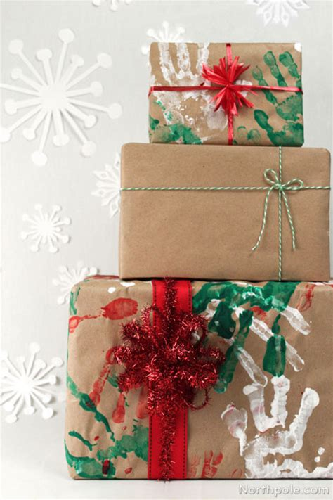 Crafts With Wrapping Paper - handprint wrapping paper