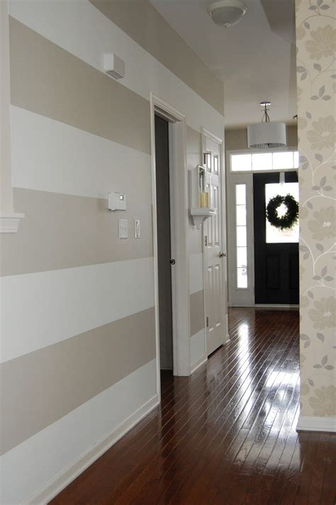 benjamin moore quot revere pewter quot walls love the red sofa horizontal striped hallway with coordinating wallpaper