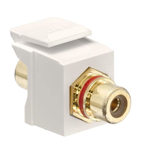 Ba 64a Rca Gold leviton quickport rca gold plated connector stripe light almond 40830 btr the home depot