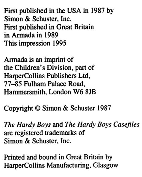 copyright template for book casefiles hardyboys co uk