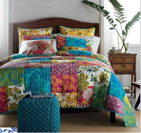 Quality Quilt by Bright Beautiful Handmade Size Patchwork Quilt With Pillowcases Quality Quilts