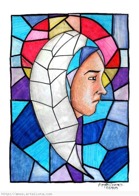 imagenes para pintar vitrales maria vitral am 243 s g 243 mez artelista com