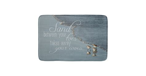 Quote Mat by Sand Between Your Toes Quote Kitchen Mat Bathroom