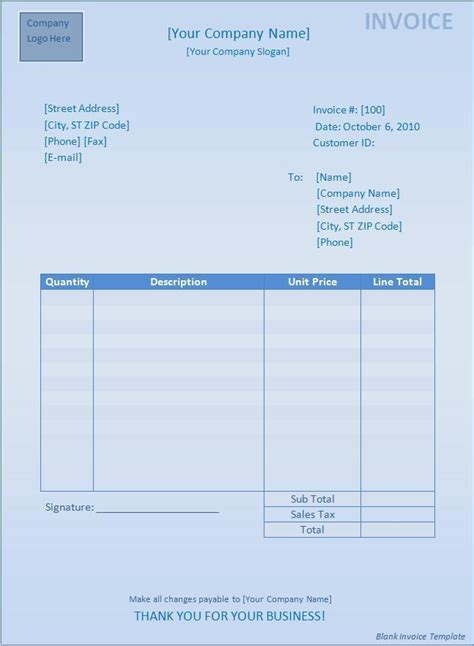 invoice blank template simple invoice blank template free invoice