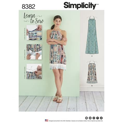 pattern sewing online simplicity sewing pattern 8382 a halter dress in two