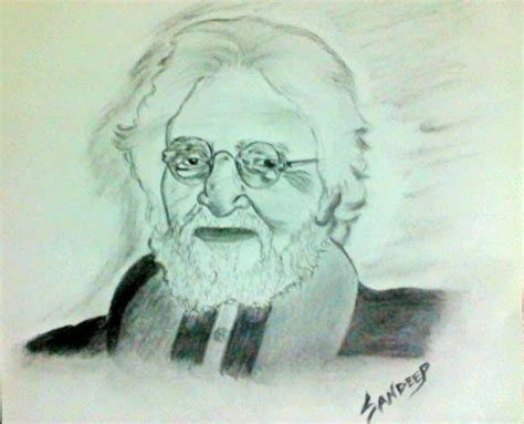 M F Hussain Sketches sketch of painter m f hussain desipainters