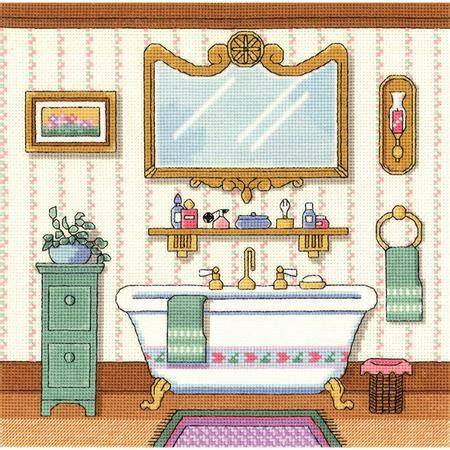 bathroom cross stitch patterns free janlynn victorian bath cross stitch kit 006 0100