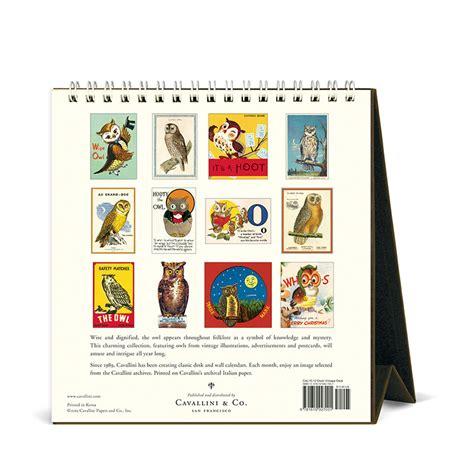 Cavallini Calendars Cavallini Papers 2016 Desk Calendar Vintage Owls 6 X 6