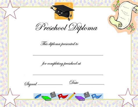 Preschool Graduation Invitation Templetes Downloadable Graduation Templates