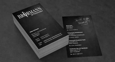 Visitenkarten Hochformat by Visitenkarten Br 246 Rmann Der Feinschmecker Gute Werbung