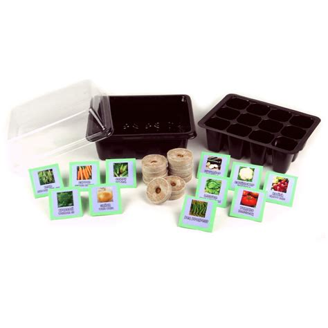 Vegetable Garden Seed Starter Kit Vg217ssk The Home Depot Vegetable Garden Seed Kits