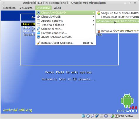 android virtualbox installiamo android in virtualbox mamma usa linux