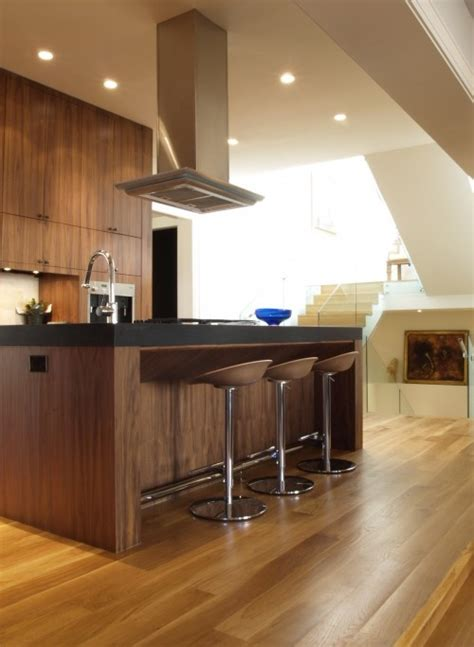modern walnut kitchen cabinets walnut cabinets modern kitchen pinterest