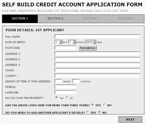 Jewson Credit Application Form Part 5 Setting Up The Self Build Account Written By Gary King Jewson