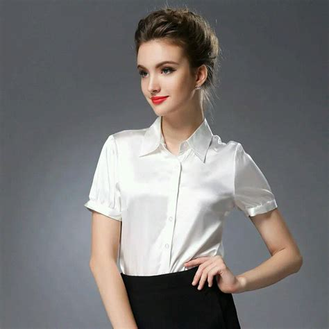 Royal Top Blouse Hq satin blouse to work collar blouses
