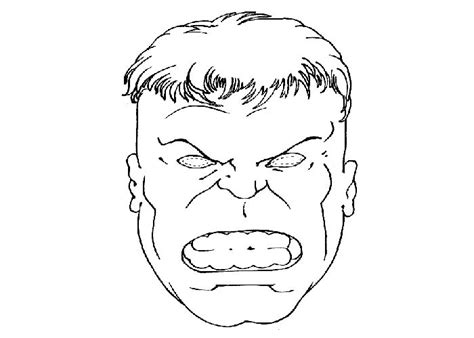 hulk face colouring pages