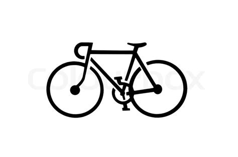 Road Bicycle Outline by Bicycle Silhouette Stock Photo Colourbox