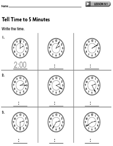 clock worksheets nearest 5 minutes 16 best images of telling time worksheets 5 minutes