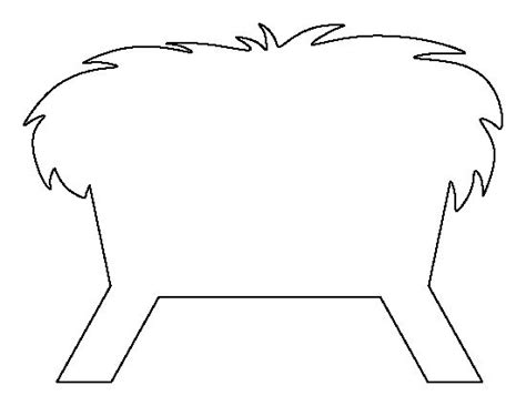 manger template manger pattern use the printable outline for crafts