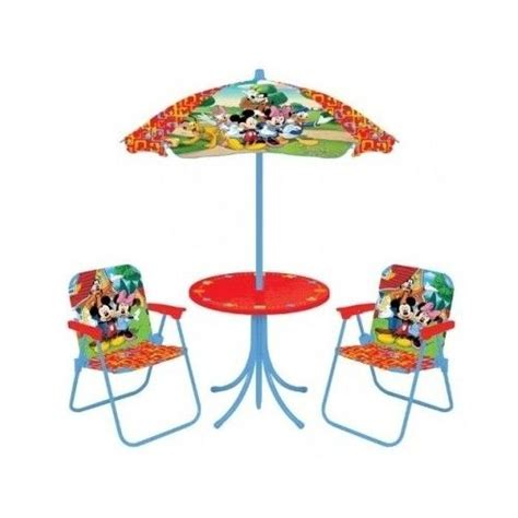 minnie mouse patio set patio set disney chairs umbrella table washable indoor outdoor backyard