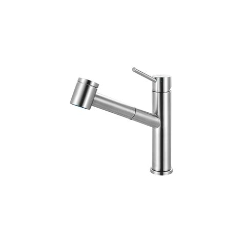Franke Kitchen Faucets Franke Ffps3450 Steel Series Pull Out Kitchen Faucet With Top Lever Stainless Steel