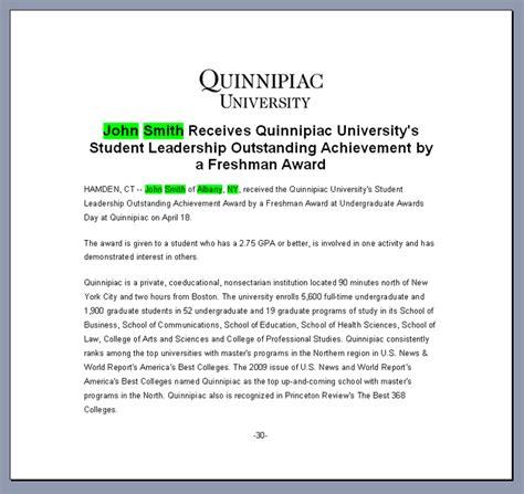 award press release template achievement award readmedia wiki