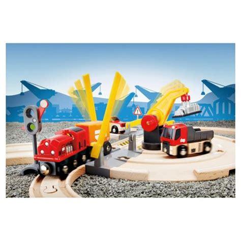 brio road and rail brio road and rail crane set wooden toy