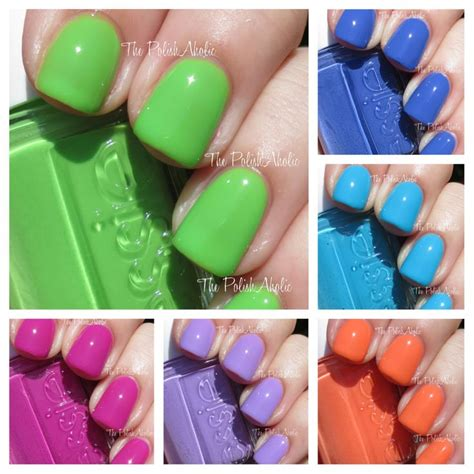 2014 essie neon swatches essie neon 2014 too taboo collection swatches review