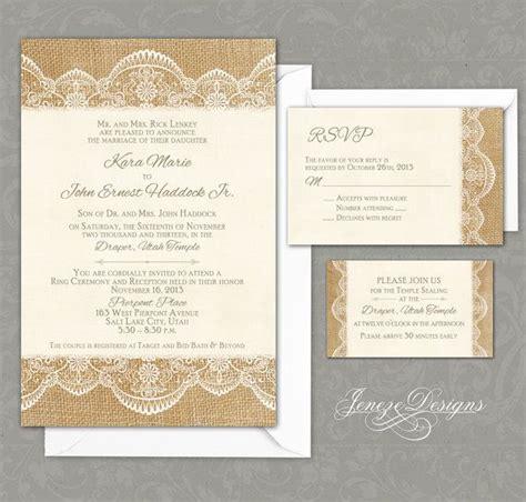 wedding invitation lace design impressive burlap and lace wedding invitations theruntime
