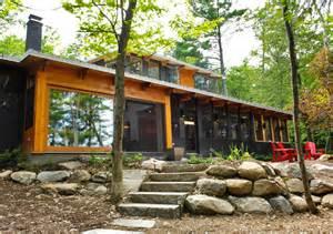Lots Of Windows House Plans Decor Bala Park Island Cabin Is An Eco Efficient Seasonal Home On Lake Muskoka In Ontario Bala Park