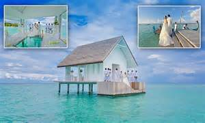 Four Seasons opens overwater wedding pavilion at Maldives resort   Daily Mail Online